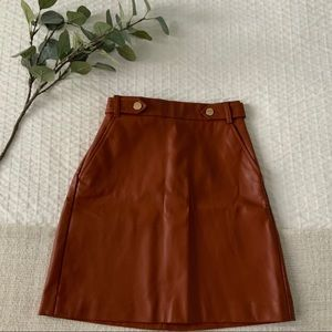LOFT faux leather skirt, size 0